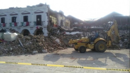 México: Escombros tras el terremoto. Foto: La Jornada