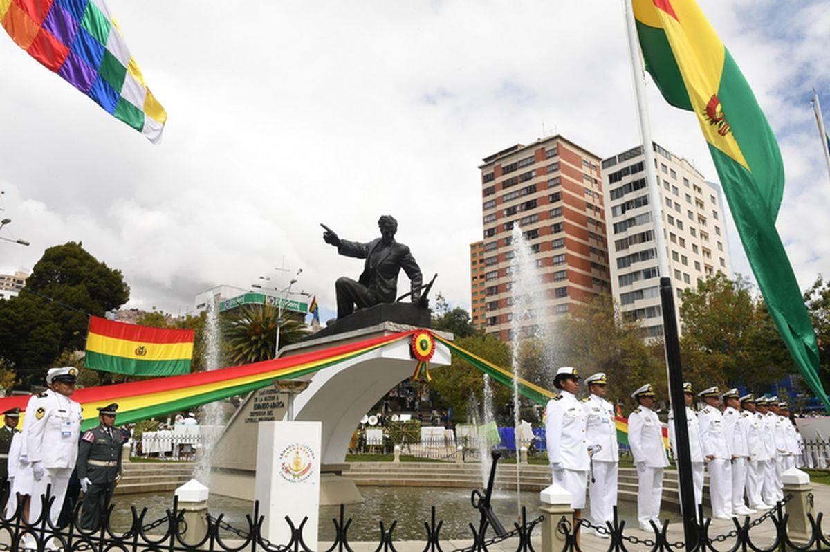 El monumento a Eduardo Avaroa. Foto: ABI