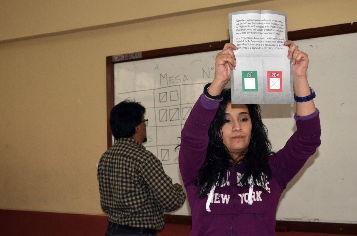 Referendum 2016, la elección que perdió Evo. (Foto: Carlos Barrios/ABI)