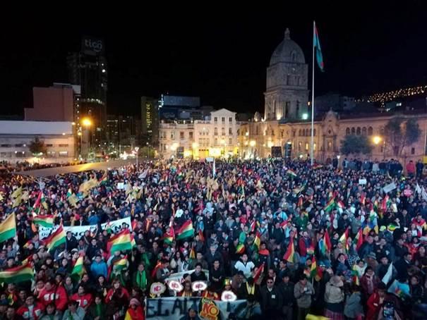 Manifestación del 10.Oct.2017 contra el intento de repostulación de Evo Morales