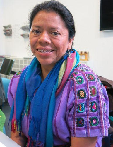 Lolita Chávez en Berna. Foto: Sergio Ferrari
