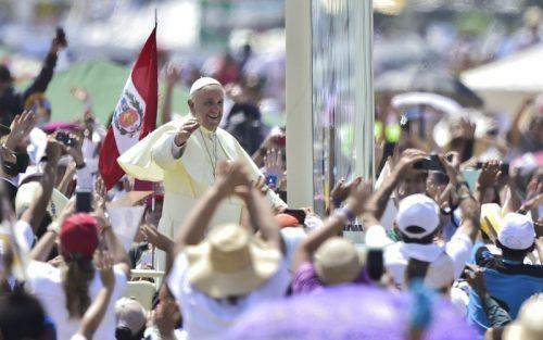 El papa Francisco en su visita a Perú. Foto: APU