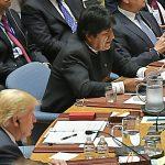 Morales en la Asambles General de la ONU, 2018. Foto: Abi