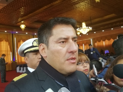 Javier Zavaleta, ministro de Defensa. Foto: ABI