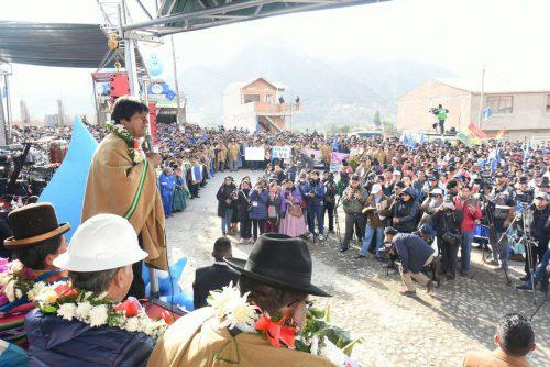 Evo Morales en Mecapaca. Foto: ABI