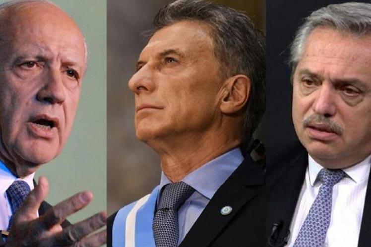 Roberto Lavagna, Mauricio Macri y Alberto Fernández Foto: PL