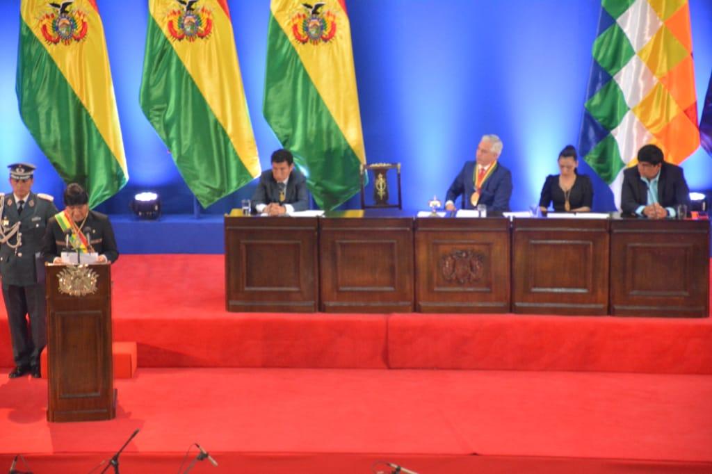 Informe de Evo Morales en Trinidad. Foto: ABI