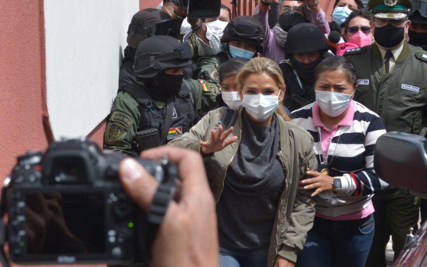 Jeanine Añez en la cárcel de Obrajes. Foto: ABI